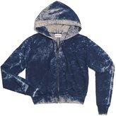 Cotton Citizen Women's Milan Crop Zip Hoodie - Super Navy Dust