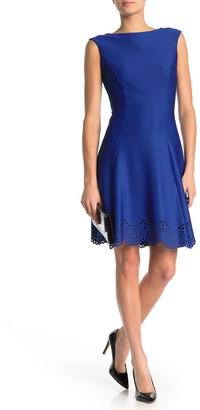 Donna Ricco Boatneck Fit & Flare Dress