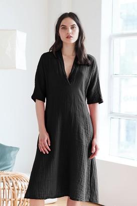 Velvet by Graham & Spencer Kerry Cotton Gauze V-Neck Dress