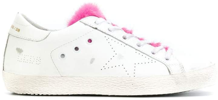 Golden Goose fur tongue Superstar sneakers