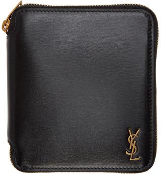 Saint Laurent Black Tiny Palm Monogramme Wallet