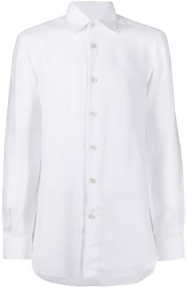 Kiton Pointed Collar Linen Shirt