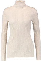 Tory Burch Ribbed Cotton Turtleneck Sweater
