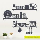 Scandinavian SirFace Graphics Nordic Kitchen Shelves Wall Sticker
