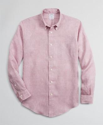 Brooks Brothers Regent Fitted Sport Shirt, Irish Linen