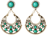 Amrita Singh Austrian Crystal & Turquoise Ronnie Clip-On Earrings