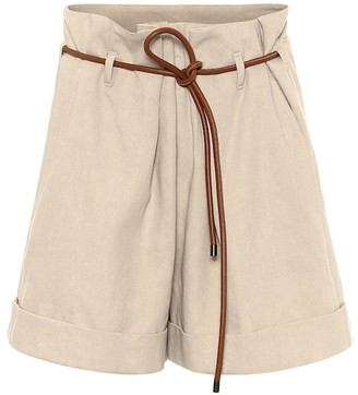 Brunello Cucinelli Cotton and linen shorts