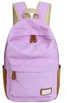 ABC® 1099 ABC® Double-Shoulder Girls Canvas Dots Schoolbag Students Backpacks