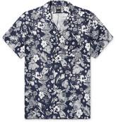 Todd Snyder Camp-collar Floral-print Linen Shirt - Storm blue