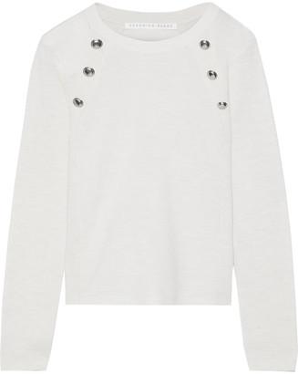 Veronica Beard Pearson Button-embellished Merino Wool Sweater
