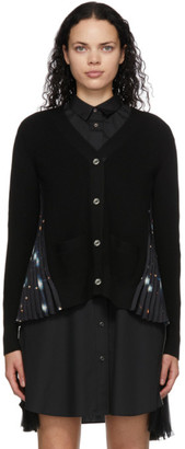 Sacai Black Knit Galaxy Cardigan
