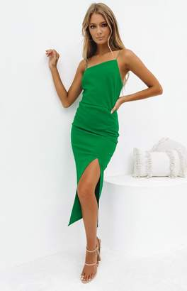 Beginning Boutique Cecilia Bodycon Dress Green