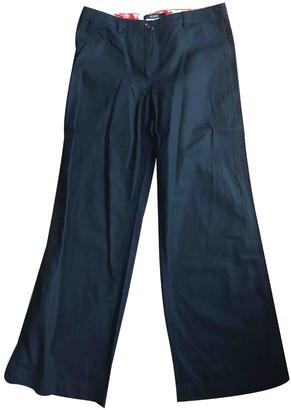 Gianfranco Ferre Blue Cotton Trousers for Women