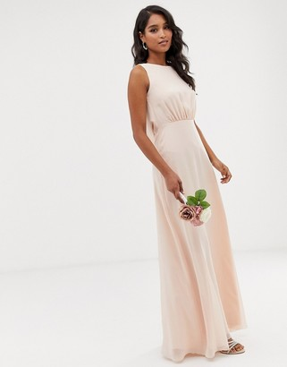 Maids To Measure bridesmaid maxi dress with draped low back