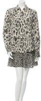 Derek Lam 10 Crosby Silk Abstract Print Dress