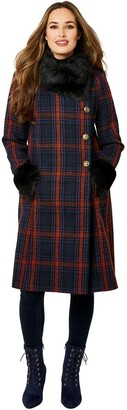 Joe Browns Faux Fur Collar Coat - Multi