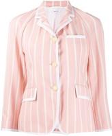 Thom Browne Banker Stripe Raglan Sleeve Sport Coat