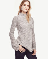 Ann Taylor Fluted Sleeve Tunic Sweater