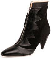 Altuzarra Fontana Zigzag Zip-Front Ankle Boot, Black