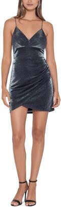 Blondie Nites Juniors' Metallic V-Neck Dress
