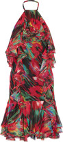 Jason Wu Ruffled printed silk-chiffon dress