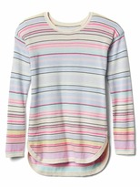 Gap Multi-stripe hi-lo sweater