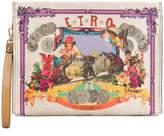 Etro circus print clutch