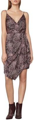 BCBGMAXAZRIA Animal-Print Wrap Dress