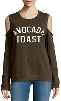 Honey Punch Avocado Toast Cold Shoulder Sweatshirt