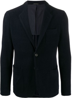 Giorgio Armani Herringbone Single-Breasted Blazer