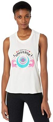 Spiritual Gangster Surplice Back Swing Tank (Universe Stone) Women's Clothing