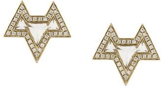 Noor Fares 18kt gold Ana diamond earrings