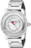 Betsey Johnson Women's BJ00301-01 Analog Display Quartz Silver Watch