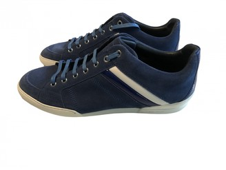 Christian Dior Blue Suede Trainers