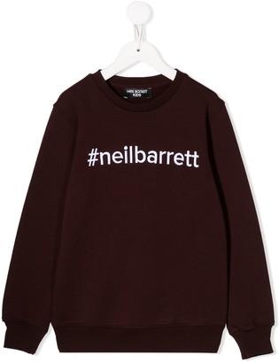 Neil Barrett Kids embroidered logo sweatshirt