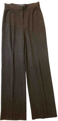 Genny Brown Wool Trousers for Women