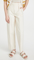 Thumbnail for your product : Tory Burch Canvas Pleated Trousers