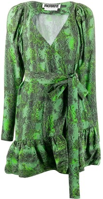 Rotate by Birger Christensen Nancy snake print dress