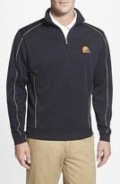 Cutter & Buck Men's Big & Tall 'Cleveland Browns - Edge' Drytec Moisture Wicking Half Zip Pullover
