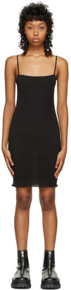 PRISCAVera SSENSE Exclusive Black Cami Mini Dress
