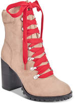 Material Girl Hazil Lace-Up Booties, Created for Macy's Women's Shoes
