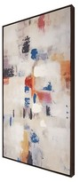 """Threshold Abstract Framed Embellished Canvas 42""""x24"""