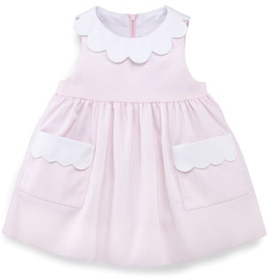 Florence Eiseman Plain Scalloped Pincord Dress, 3-9 Months