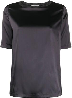 Fabiana Filippi satin silk T-shirt