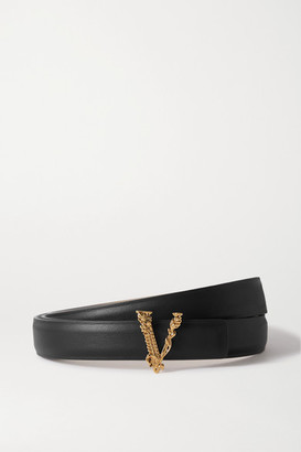 Versace Leather Waist Belt - Black