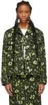 Marni Green Camouflage Cheetah Print Jacket