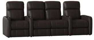 Latitude Run Home Theater Row Seating (Row of 4 Body Fabric: Luxe Polar, Reclining Type: Power