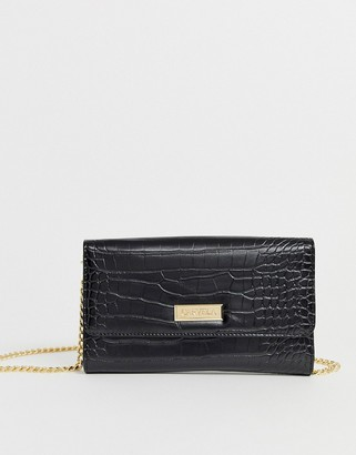 Carvela Favour chain purse in black