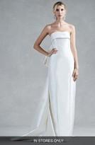 Oscar de la Renta Women's Hunter Bow Back Silk Mikado Column Gown