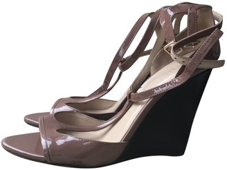 Burberry Brown Patent leather Sandals